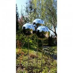 Srebrna kula na piku ze stali nierdzewnej średnica 10 cm
