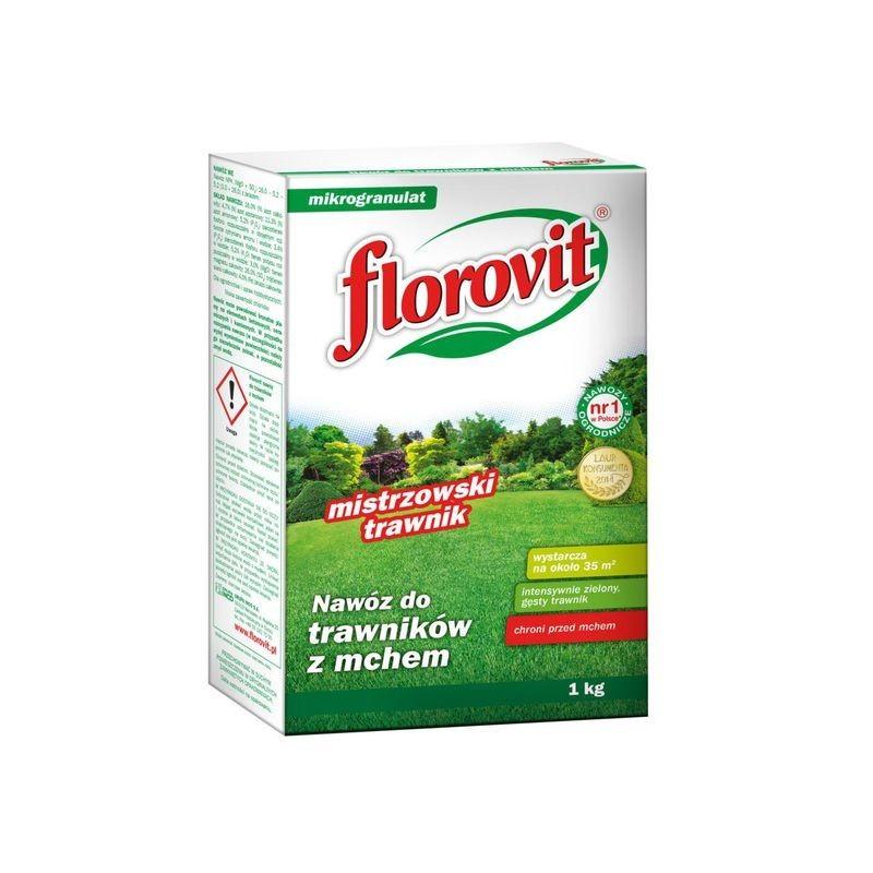 florovit nawóz do trawników z mchem mikrogranulat 1kg