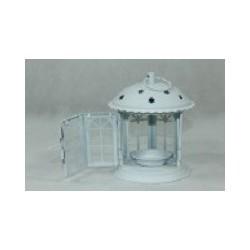 Lampion Metalowy 13 cm biały