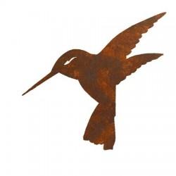 Koliber - dekoracyjna rdza ogrodowa na pręcie