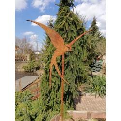 JASKÓŁKA - dekoracyjna rdza ogrodowa na pręcie