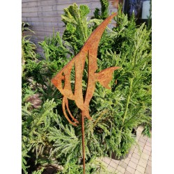 SKALAR- dekoracyjna rdza ogrodowa na pręcie