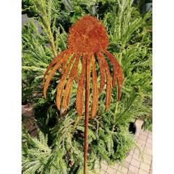JEŻÓWKA - dekoracyjna rdza ogrodowa na pręcie