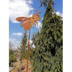 PSZCZOŁA : dekoracyjna rdza ogrodowa na pręcie