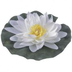 Lilia wodna jedwabna śr 15 cm biała