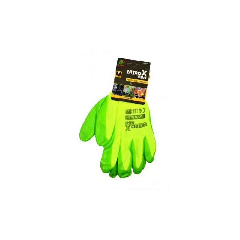 BRADAS - Rękawice ochronne NITROX MINT - Rozmiar 7 (S)