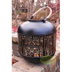 Lampion latarnia metalowa czarna 34 cm