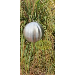 Kula stalowa srebrna matowa wisząca 10 cm