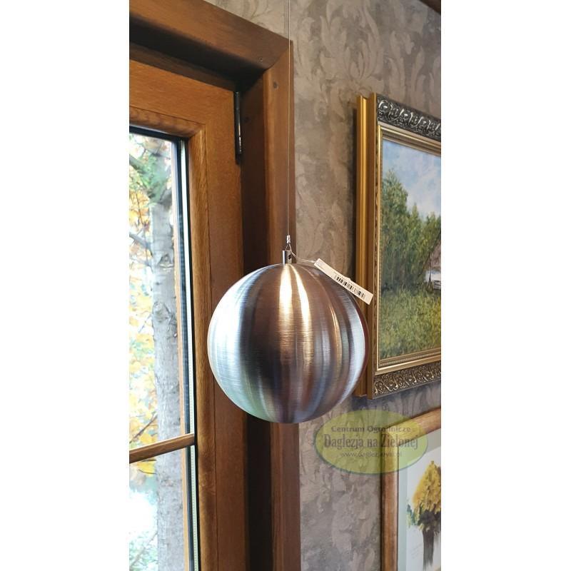 Kula stalowa srebrna matowa wisząca 15 cm
