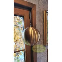 Kula stalowa złota matowa wisząca 10 cm