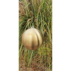 Kula stalowa złota matowa wisząca 15 cm