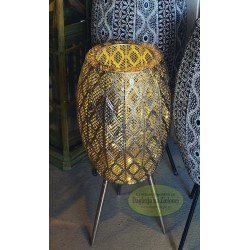 Lampion kwietnik LED wys 43 cm