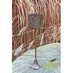 Świecznik na nodze lampion 43 cm
