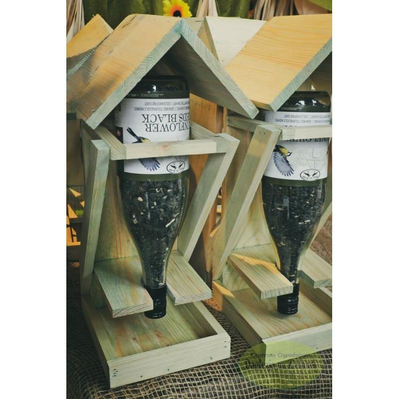 Karmnik dla ptaków z butelką