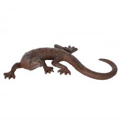 Jaszczurka żeliwna dekoracyjna