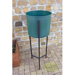 Kwietnik metalowy zielony większy