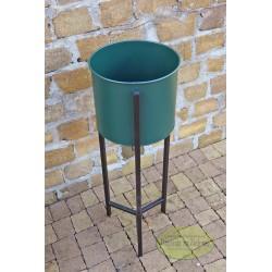 Kwietnik metalowy zielony mniejszy