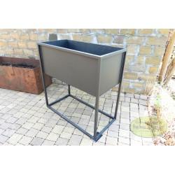 Kwietnik metalowy stojak czarny skrzynka 60x80x30 cm