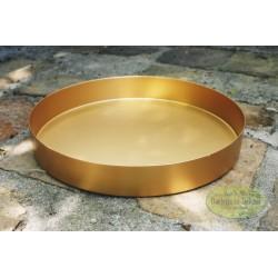 Metalowa złota podstawka duża