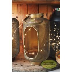 Lampion złoty ażurowy 38 cm
