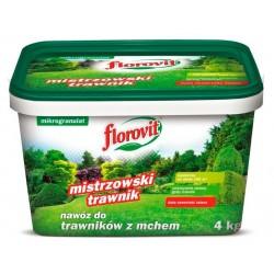 florovit nawóz do trawników z mchem mikrogranulat 4kg