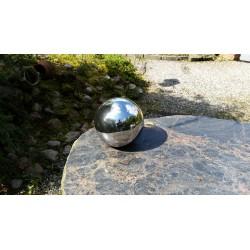 Srebrna ceramiczna kula kula dekoracyjna śr.15cm