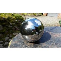 Srebrna ceramiczna kula kula dekoracyjna śr.19cm